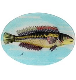 Painted Fish H Oval
