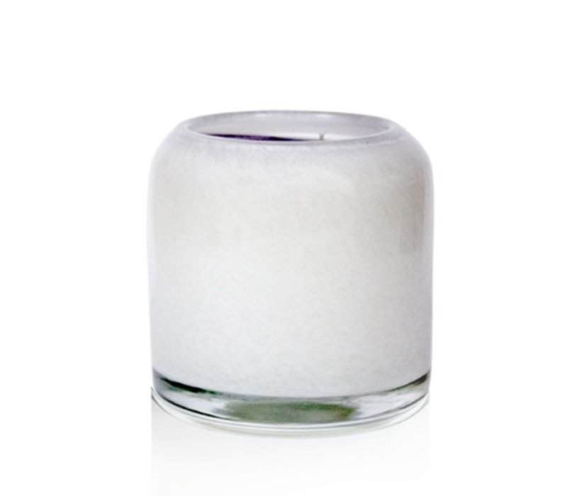 Large Boxed Honeysuckle & Lily Art Glass Candle
