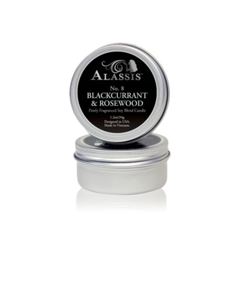 Travel Tin Candle Black Currant & Rosewood