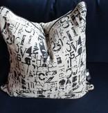 Black & White Letter Pillow