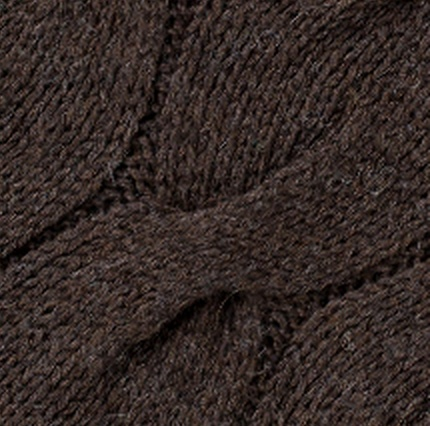 Alpaca Cable Crazy Throw, Dark Brown