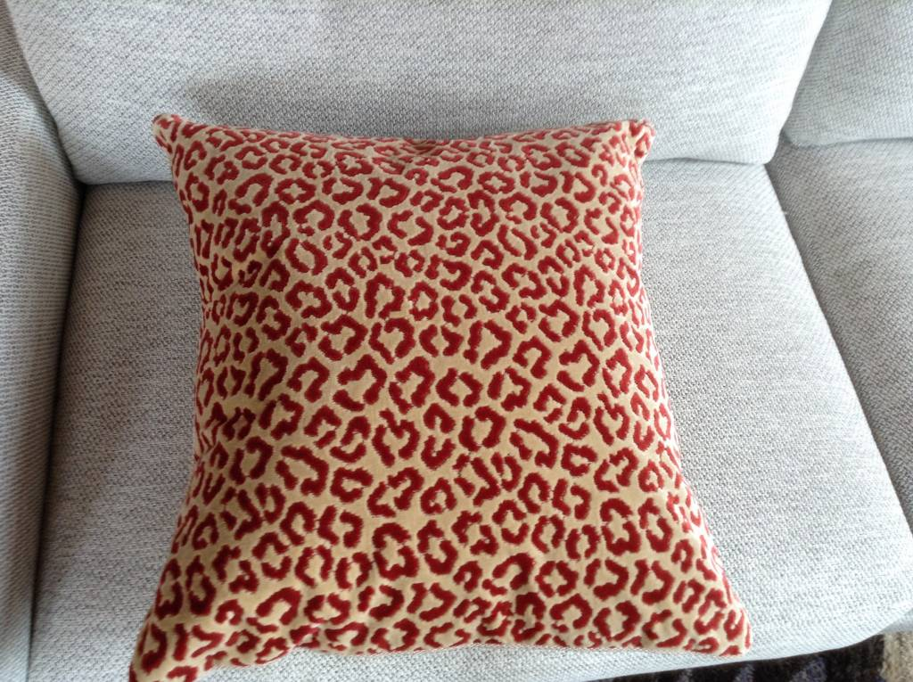 Red Cheetah Pillow