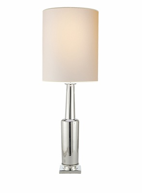 Fiona Table Lamp -Mercury Glass w Natural Paper Shade