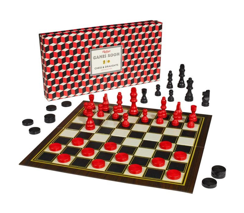 Games Room Chess & Checkers Set
