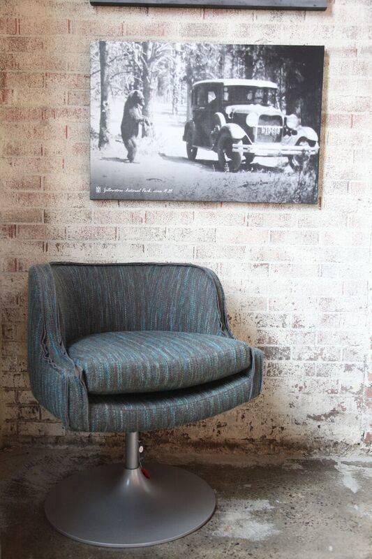 Blue/Green Nixon Swivel Chair - Orginally $3,260