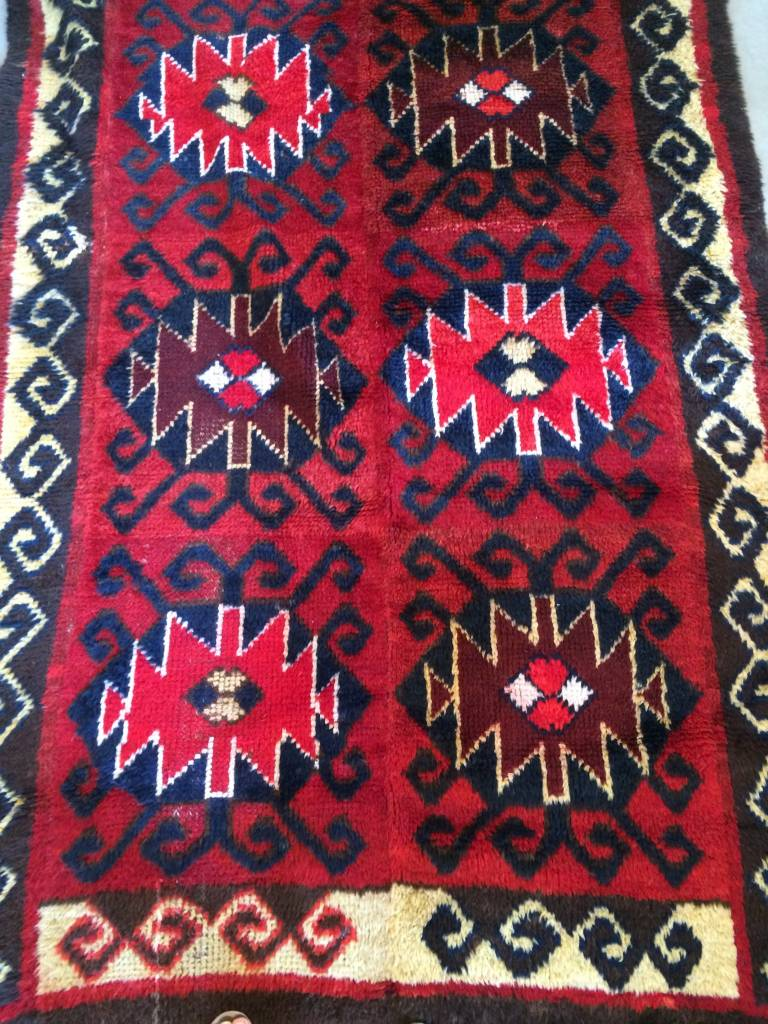 "Navy / Dark Red Rug 8'6"" X 4'4.5""  *CS*"