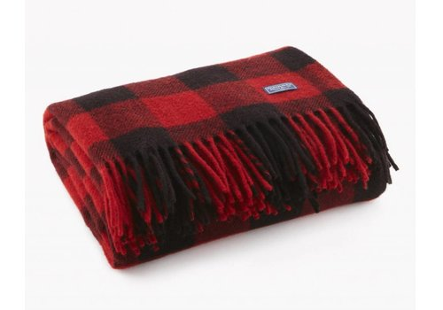 Buffalo Check Throw | Red + Black