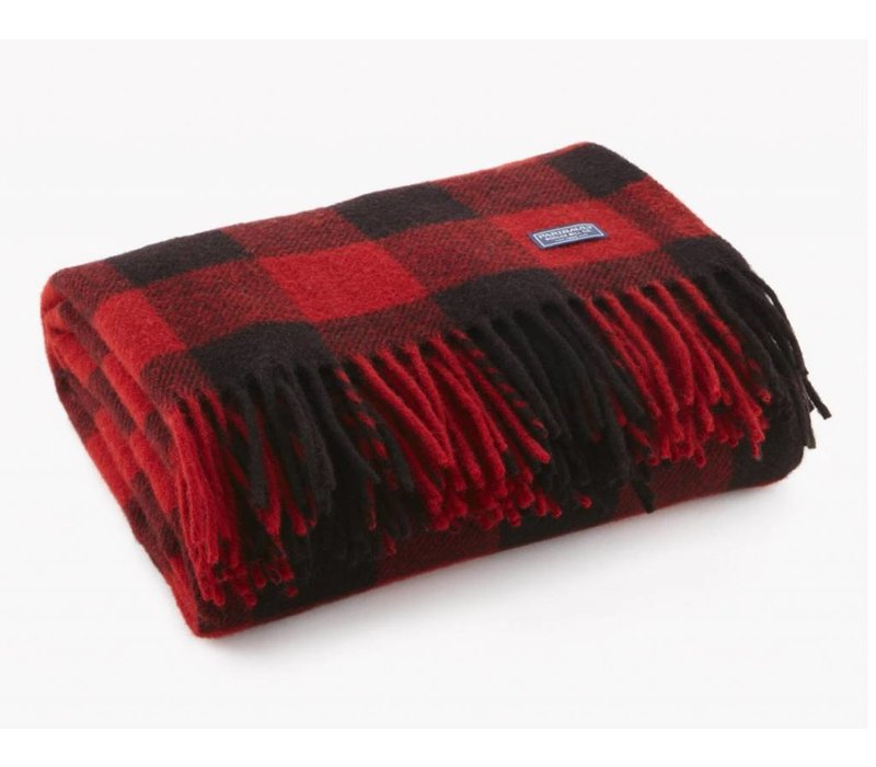 Buffalo Check Throw - Red / Black