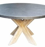 Zinc Top Dining Table 54""