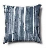 """Brushstroke Blue Pillow 18""""x18"""""""