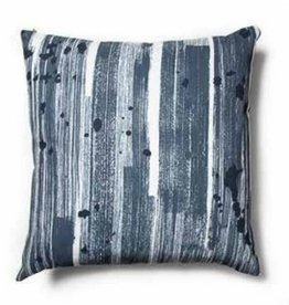 "Brushstroke Blue Pillow 18""x18"""