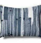 "Brushstroke Blue Pillow 12""x16"""