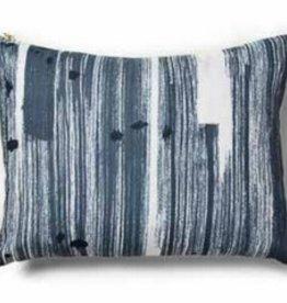 """Brushstroke Blue Pillow 12""""x16"""""""