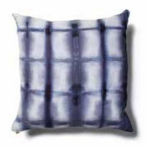 "Navy Shibori Pillow 20""x20"""