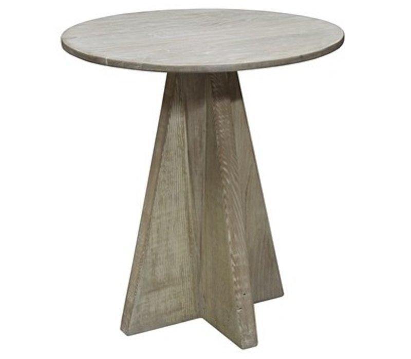 Oak Side Table - Brown Antique Finish