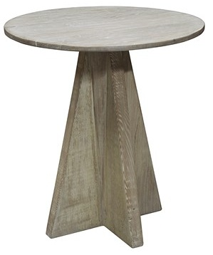 Oak Side Table - Brown Antique Finish