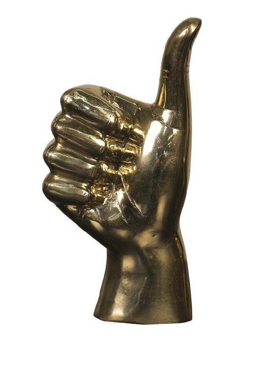Brass Thumbs Up