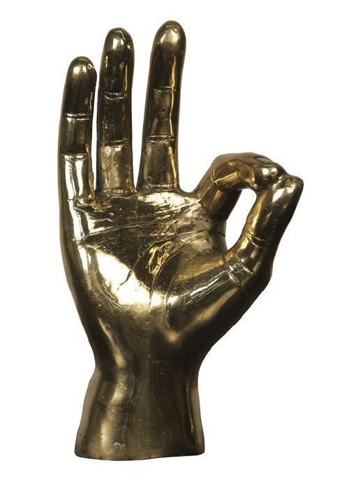 Brass OK Hand
