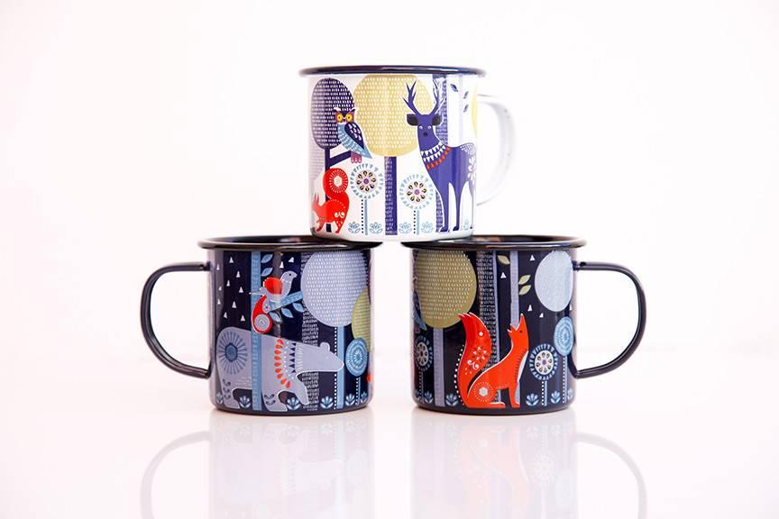 Enamel Mug Night Animals