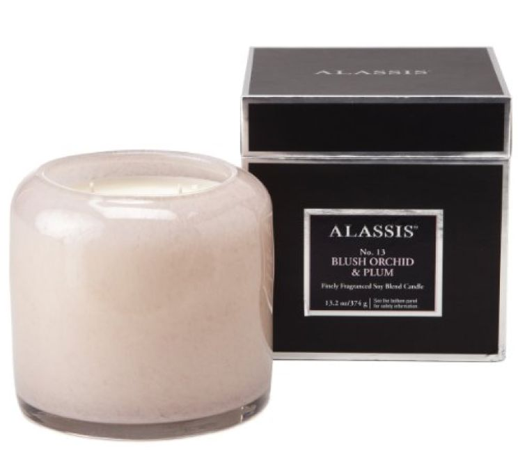 Large Boxed Blush Orchid Candle