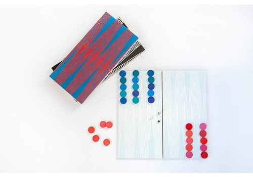Baltic Birch Backgammon - White/Gray