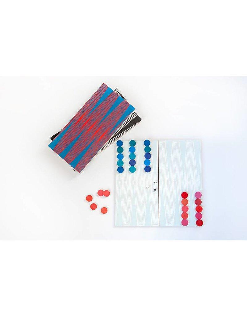 Baltic Birch Backgammon - White/Gray