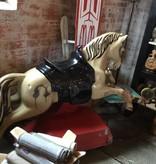 Tan/Red Mechanical Horse c1960's *CS*