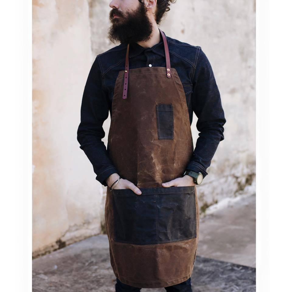Apron: Nutmeg & Blue