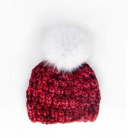 Fur Pom Pom Merino Wool Hat