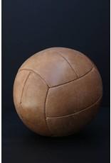 Large Tan Vintage Medicine Ball