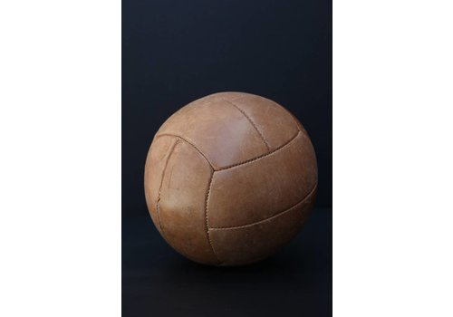 Large Tan Vintage Medicine Ball