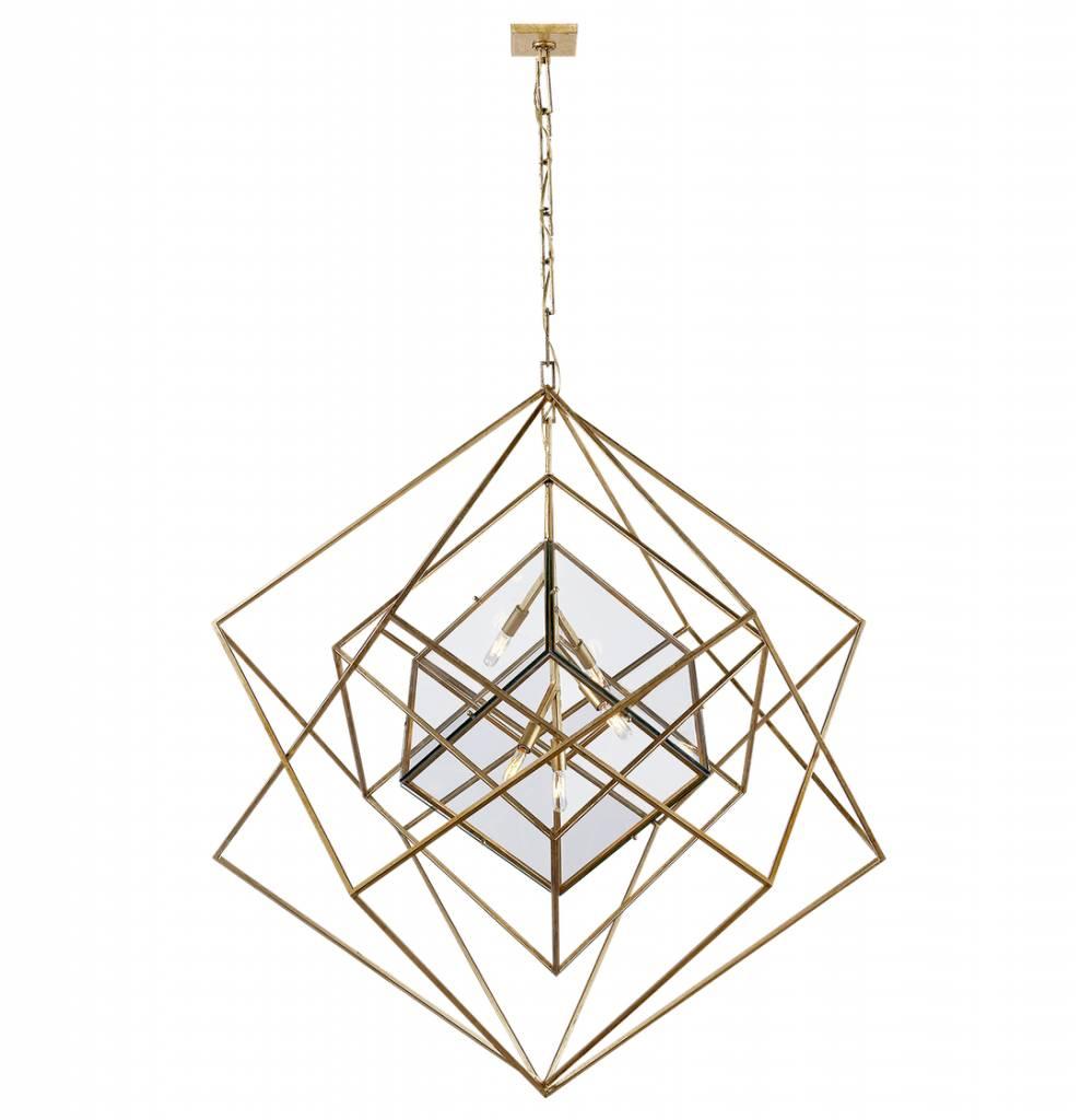 Cubist Large Chandelier-Gild