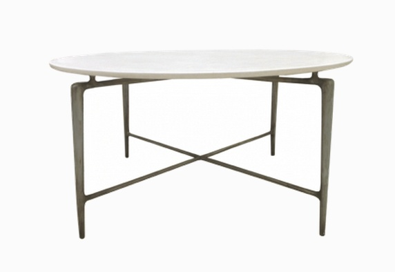 Cream Resin Top Dining Table