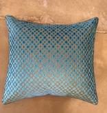 Blue Silver Dot Pillow