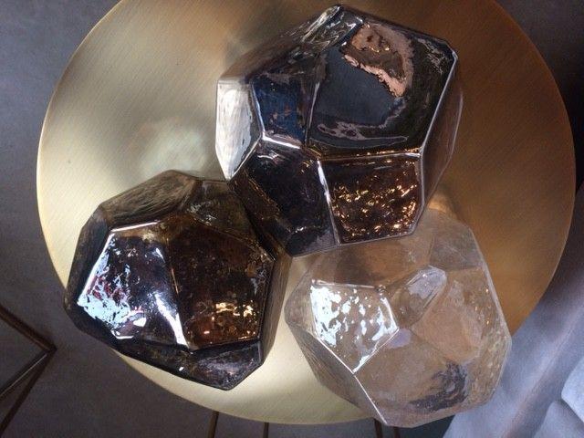 Hand Blown Glass Rock, Clear