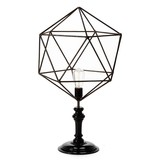 Geometric Wire Table Lamp Triangle