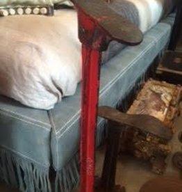 Vintage Red Metal Shoe Mold