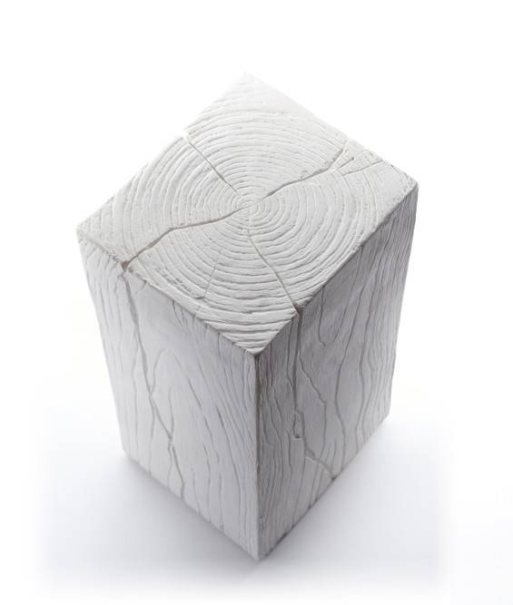 Small Cube in Plaster