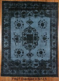 Blue/black Overdyed Rug - 071627