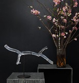 Glass Branch w/Dark Steel Stand