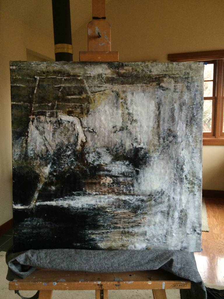 Dark and Sultry: Licorice 2'x2'
