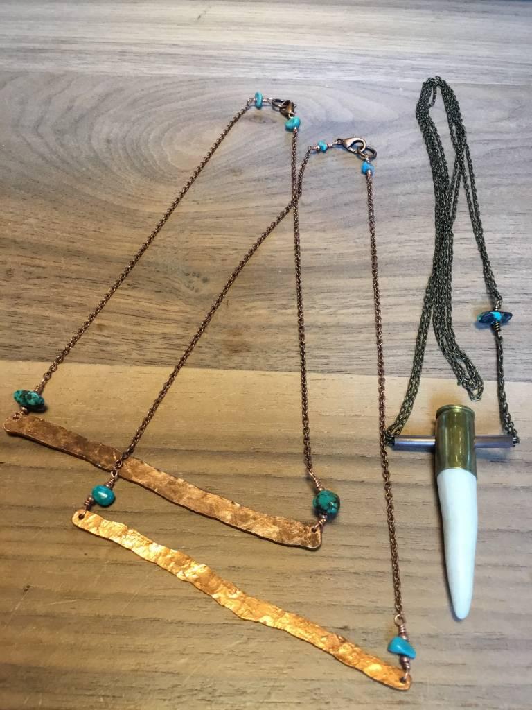 Cannelita Copper Bar Necklace