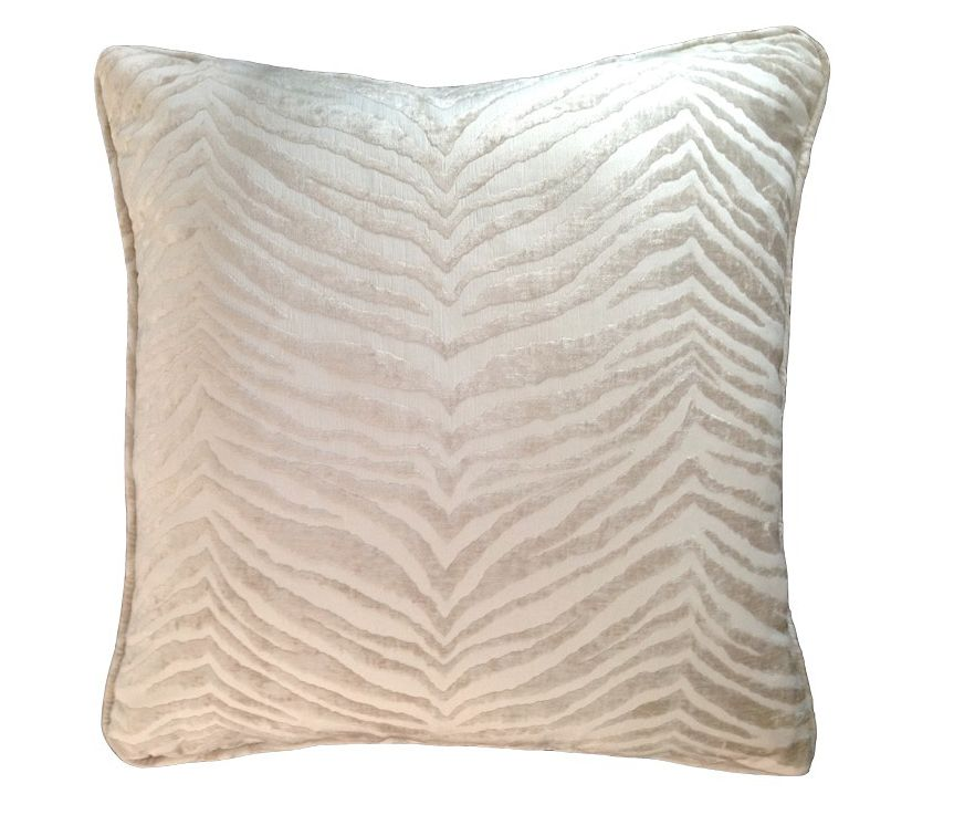 "Hunter Silver/Ivory Pillow 23""x23"""