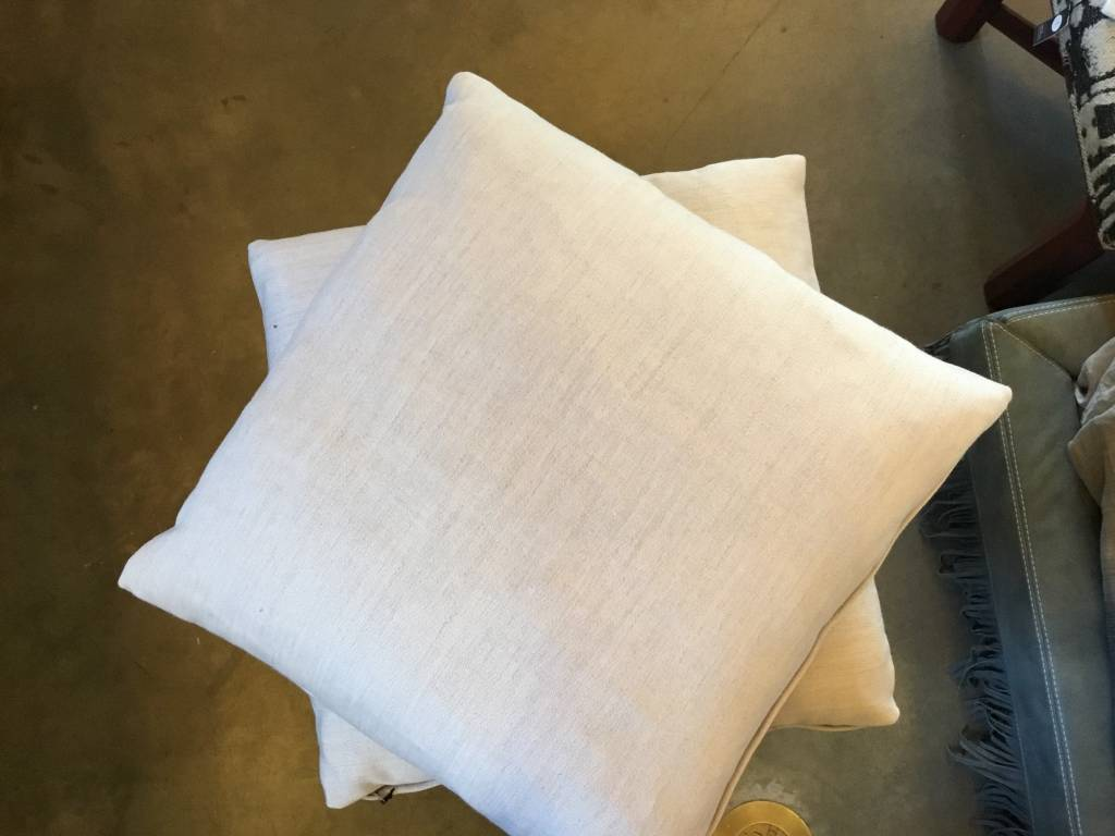 "Laurent Off White Pillow 22""x22"""