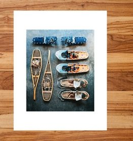 """32"""" x 42"""" Evolution of Snow Shoes"""