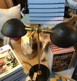 Steel & Brass w/Black Marble Table Lamp