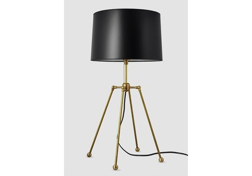 Brass w/Black Shade Table Lamp