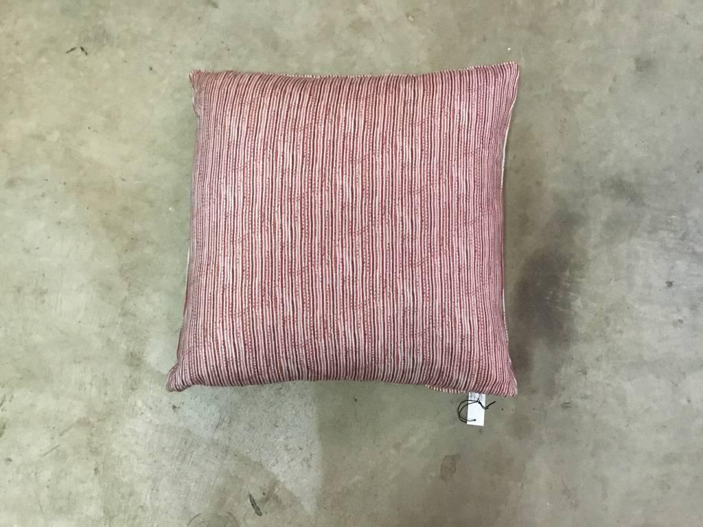Pink Stripe Pillow 22x22