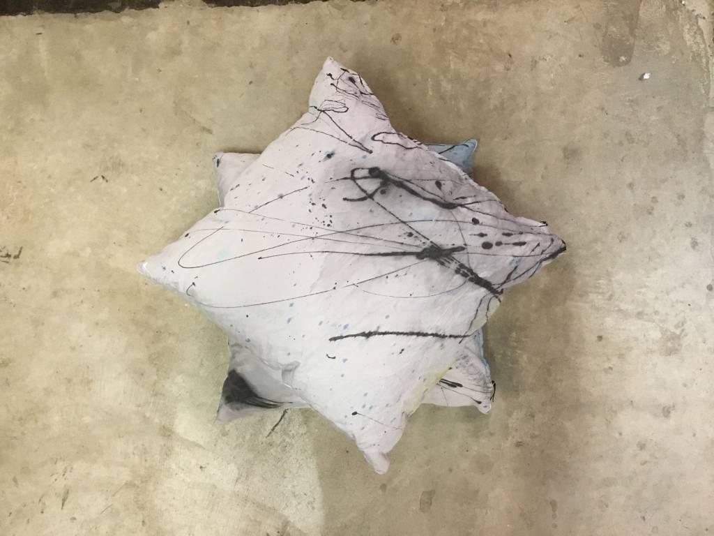 Grey/Black Splatter Pillow 22x22