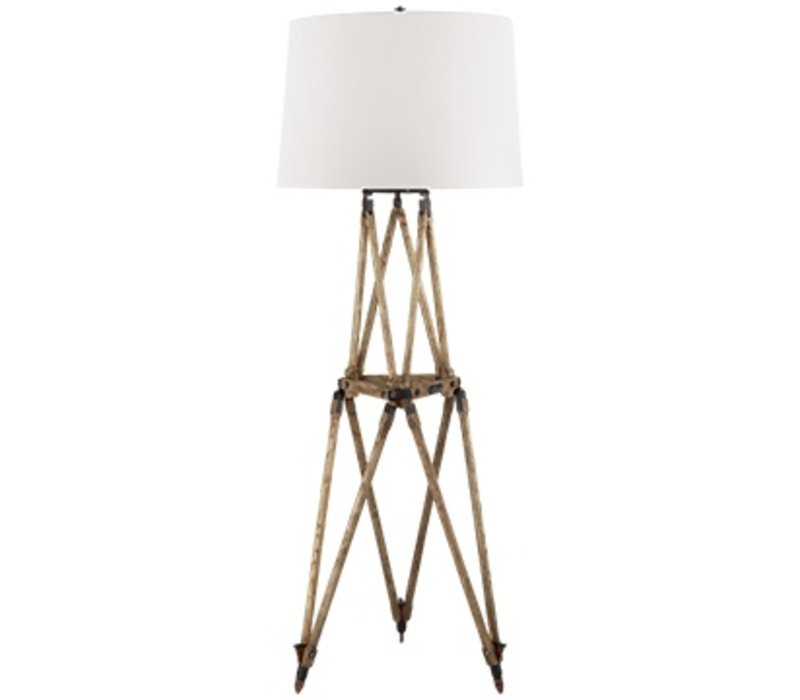 Quincy Floor Lamp Vintage Oak